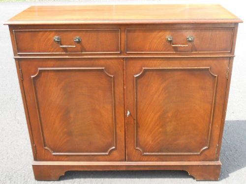 Small Two Door Mahogany Cupboard Sideboard
